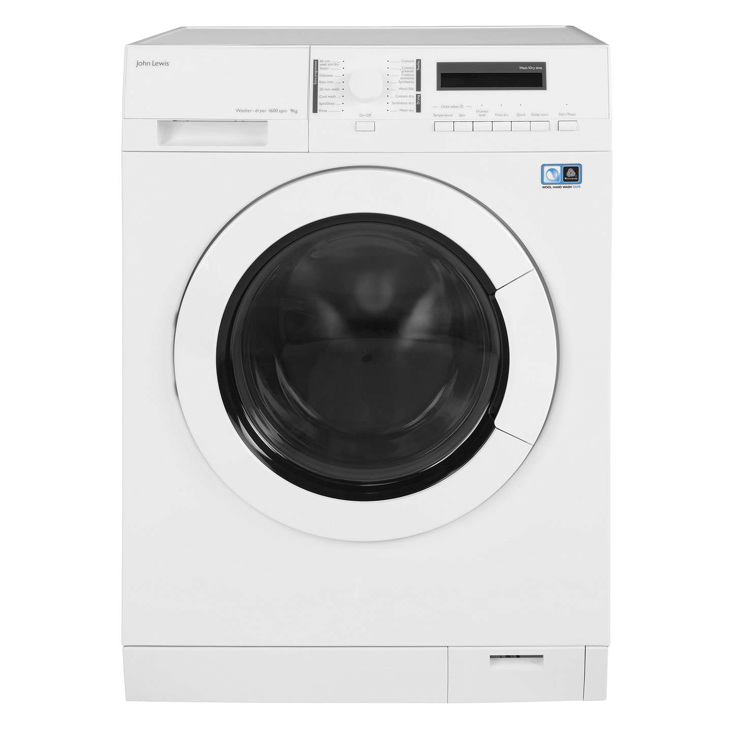 BuyJohn Lewis JLWD1613 Washer Dryer, 9kg Wash/6kg Dry Load, A Energy Rating, 1600rpm Spin, White Online at johnlewis.com
