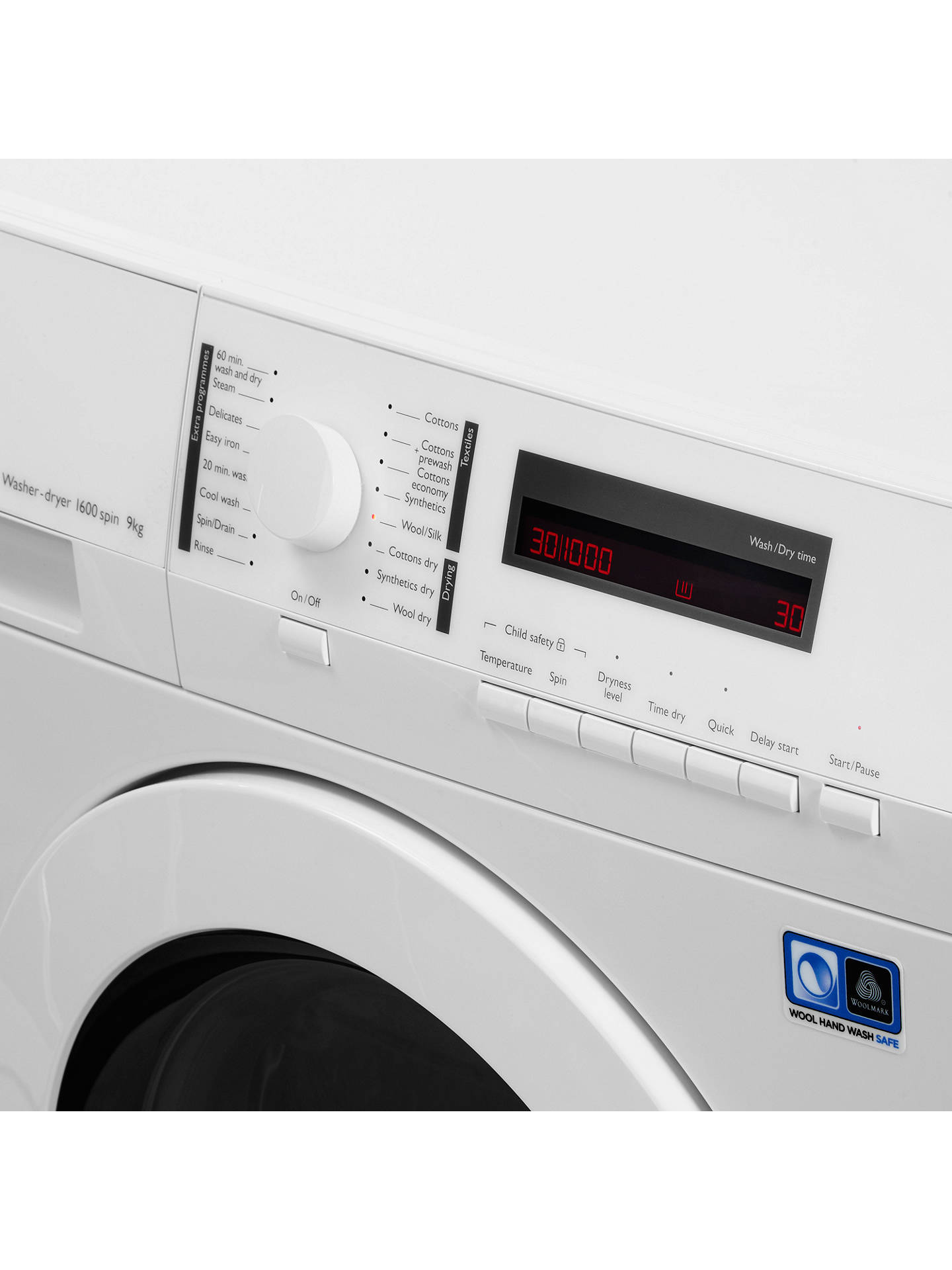 BuyJohn Lewis & Partners JLWD1613 Washer Dryer, 9kg Wash/6kg Dry Load, A Energy Rating, 1600rpm Spin, White Online at johnlewis.com