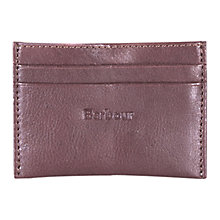 Buy Barbour Leather Card Holder, Brown Online at johnlewis.com