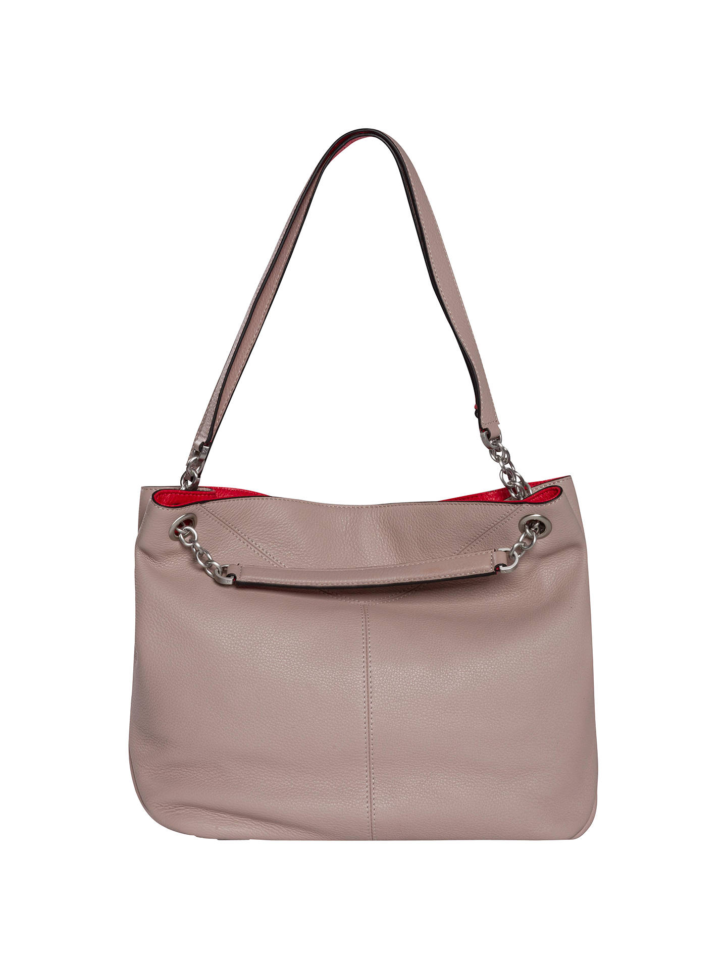 2a016b63e Buy Calvin Klein Mia Chain Saffiano Leather Tote Bag, Taupe Online at  johnlewis.com