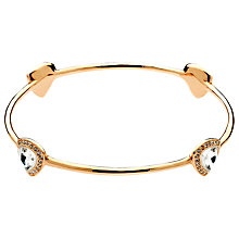 Buy Finesse Trilliant Swarovski Crystal Bangle, Rose Gold Online at johnlewis.com