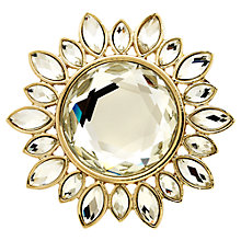 Buy Monet Crystal Sunburst Brooch, Gold Online at johnlewis.com