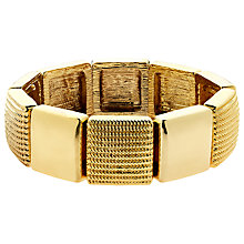 Buy Monet Textured Stretch Bracelet, Gold Online at johnlewis.com