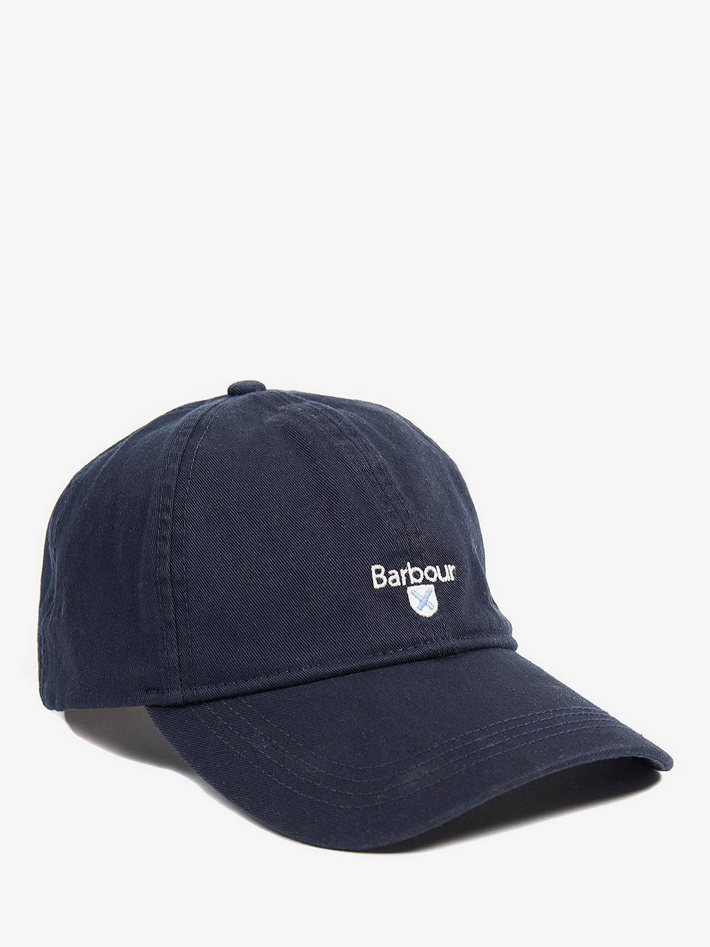 2557f85e Buy Barbour Cascade Sports Baseball Cap, One Size, Navy Online at  johnlewis.com ...