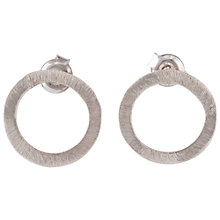 Buy Be-Jewelled Sterling Silver Circle Drop Earrings Online at johnlewis.com