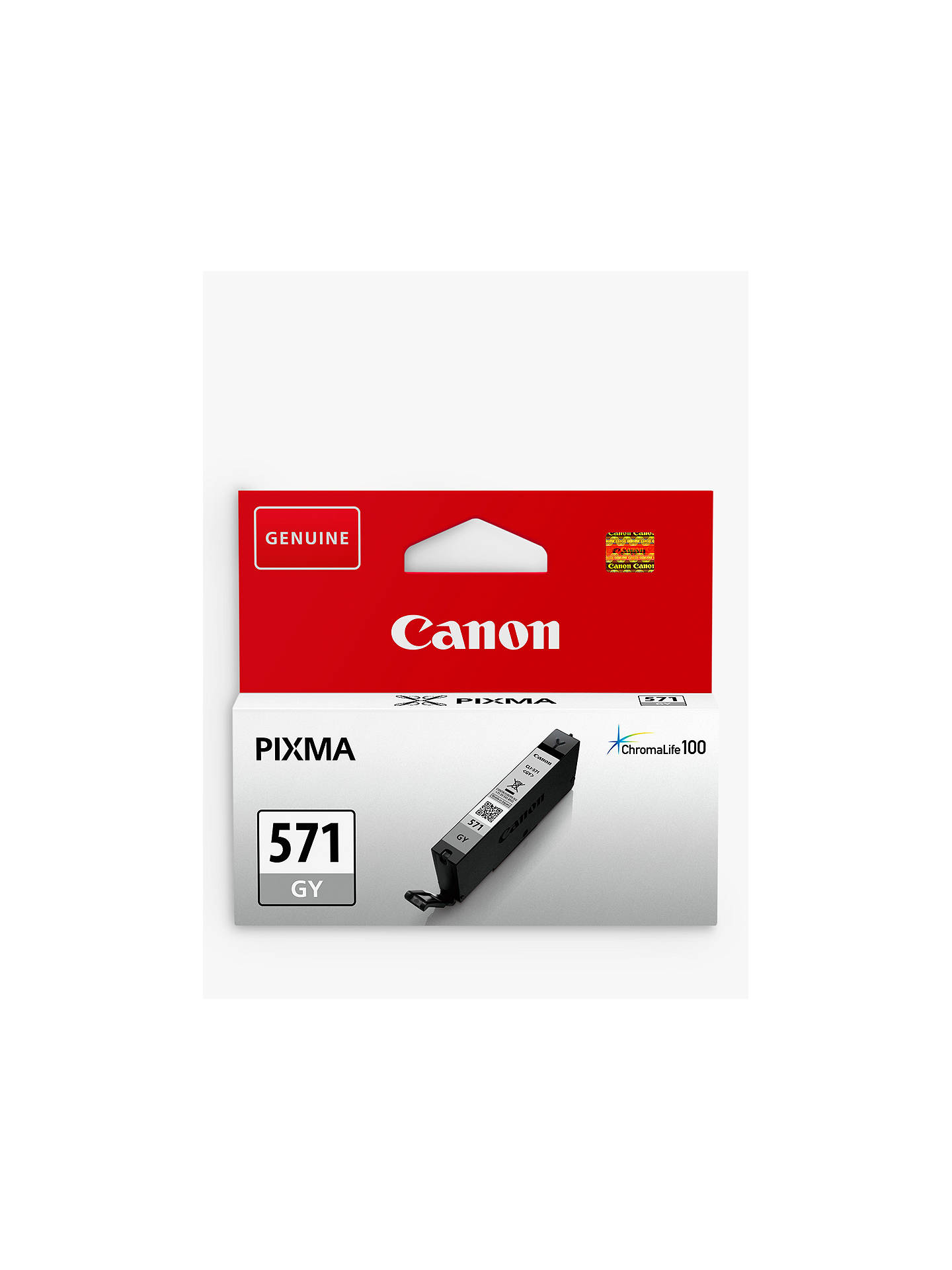 BuyCanon CLI-571 Ink Cartridge, Grey Online at johnlewis.com