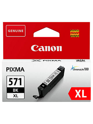 Buy Canon PGI-571 Pixma XL Ink Cartridge, Black Online at johnlewis.com