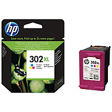 Buy HP 302 XL Tri-Colour Ink Cartridge Online at johnlewis.com