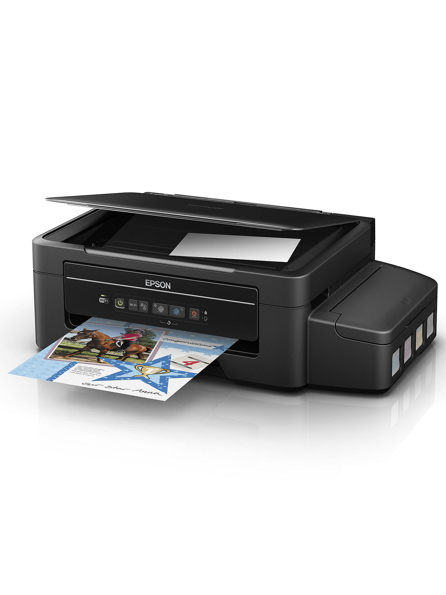 Buy Epson EcoTank ET-2500 Three-In-One Wi-Fi Printer with High Capacity Integrated Ink Tank System & 2 Years Ink Supply Included Online at johnlewis.com