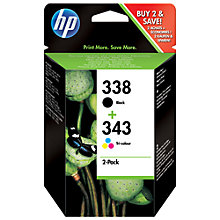 Buy HP 338/343 Ink Cartridge Multipack, Pack of 2 Online at johnlewis.com