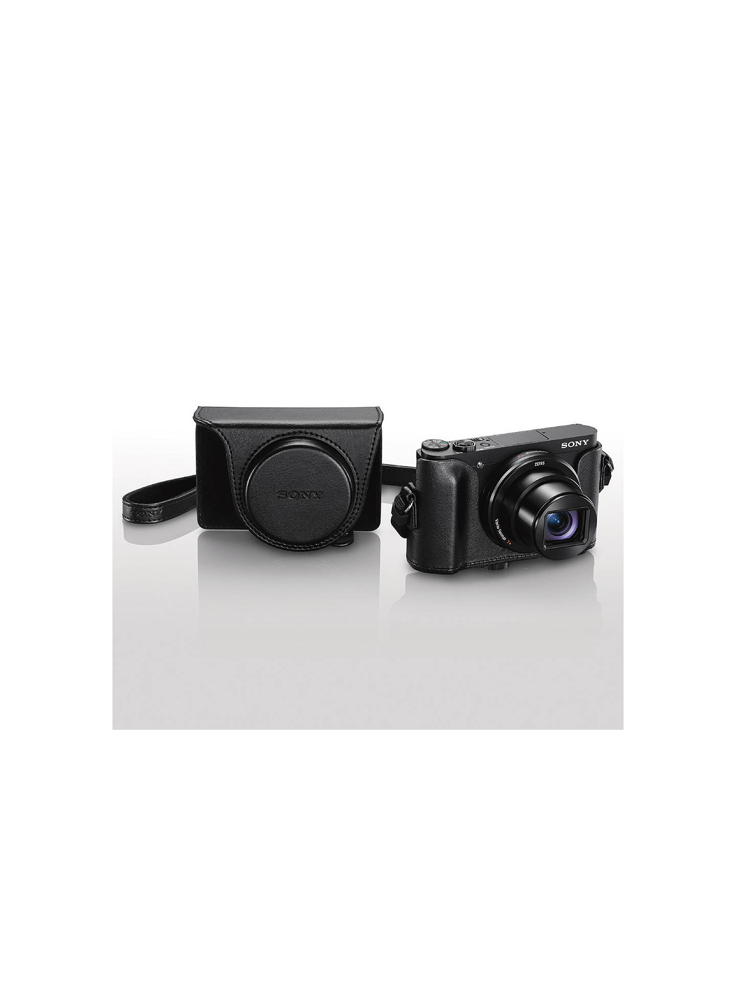 Buy Sony LCJ-HWA Jacket Camera Case For Cyber-Shot HX90/WX500 Cameras, Black Online at johnlewis.com