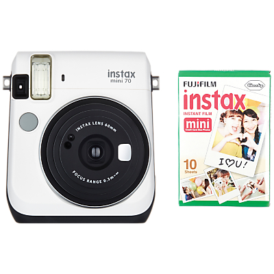 Fujifilm Instax Mini 70 Instant Camera With 10 Shots Of Film, Selfi Mode, Built-In Flash & Hand Strap