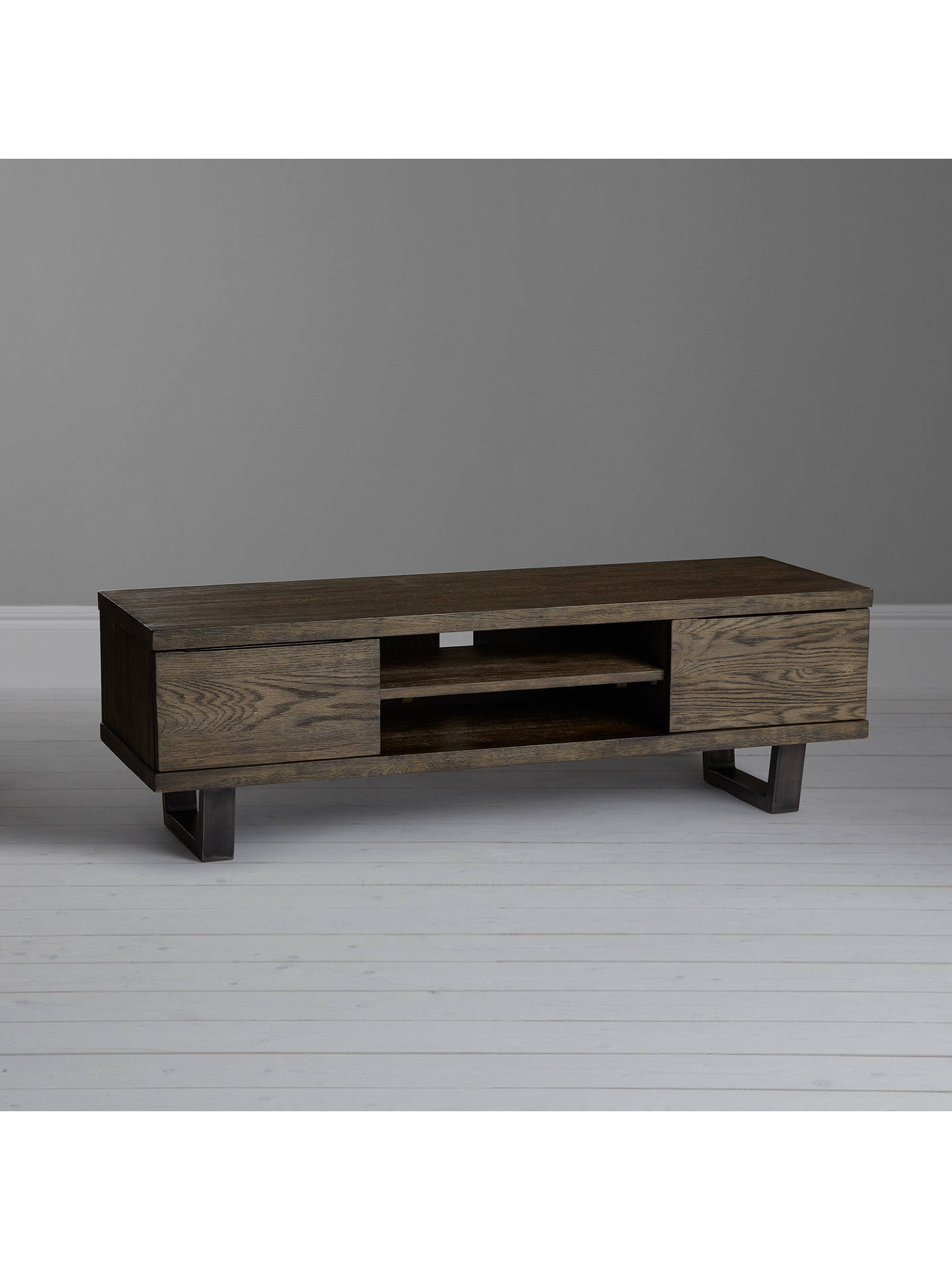 "Buy John Lewis & Partners Calia TV Stand for TVs up to 60"", Dark Online at johnlewis.com"