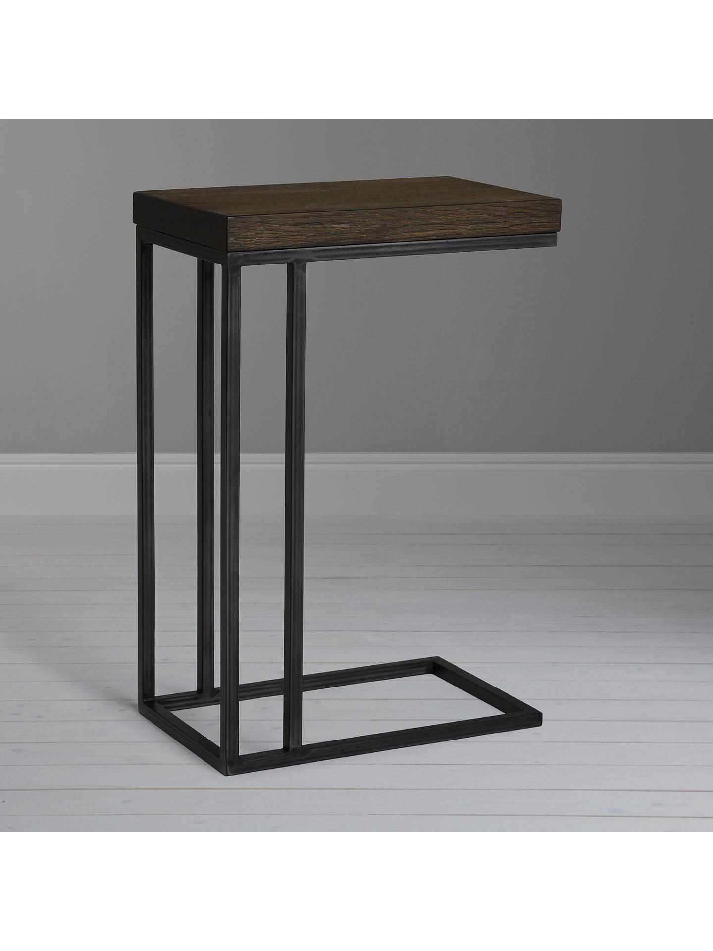 John Lewis Partners Calia Sofa Side Table Dark Wood Online At Johnlewis