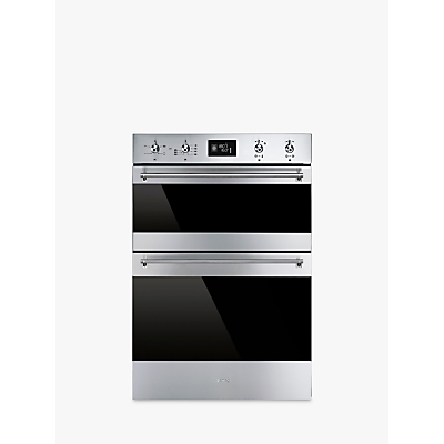 Image of Smeg DOSF6390X 60cm Classic Built In Double Electric Oven in Stainless Steel & D