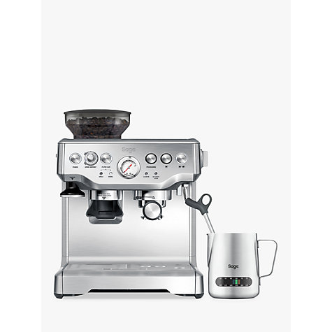 Buy Sage by Heston Blumenthal Barista Express Bean-to-Cup Coffee Machine with Temperature Control Milk Jug, Stainless Steel Online at johnlewis.com