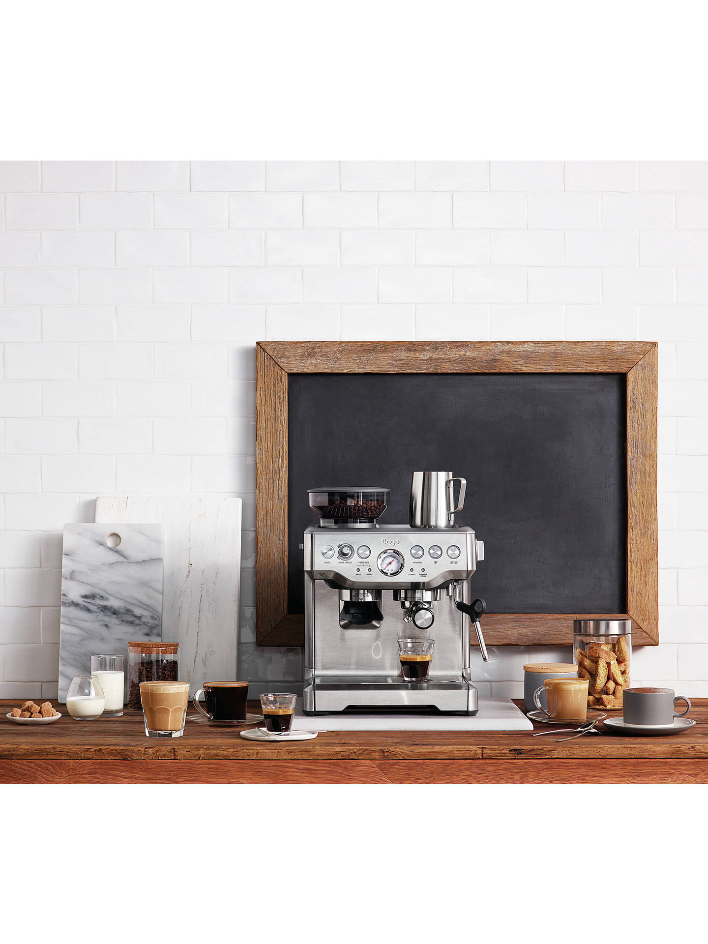 Buy Sage Barista Express Bean-to-Cup Coffee Machine with Milk Jug, Stainless Steel Online at johnlewis.com