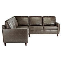 Buy John Lewis Dalston Leather Corner Sofa Online at johnlewis.com