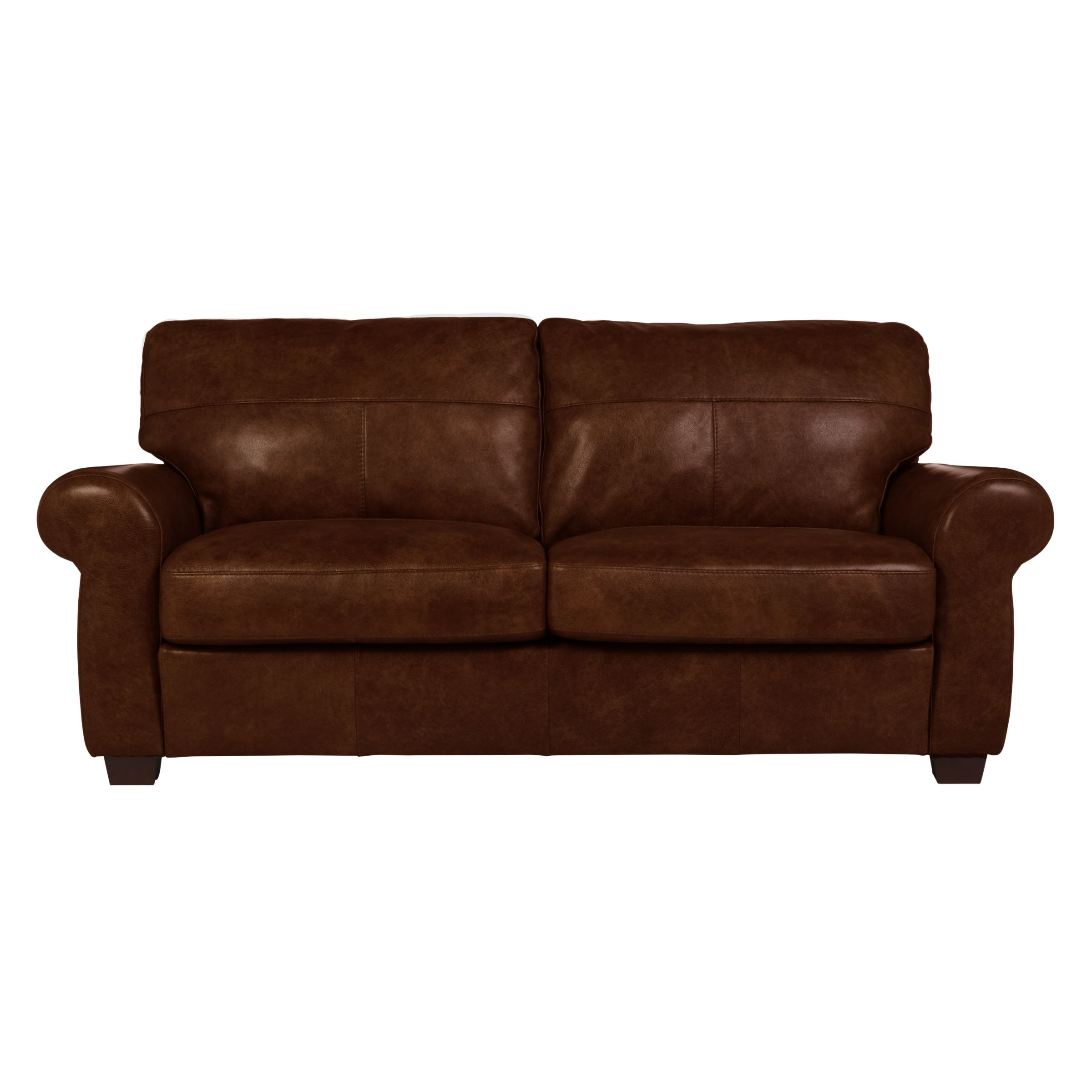 - John Lewis & Partners Hampstead Large 3 Seater Leather Sofa At