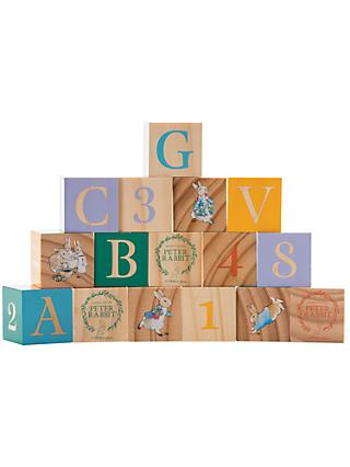 Beatrix Potter Peter Rabbit Wooden Picture Blocks Set, 16 Pieces