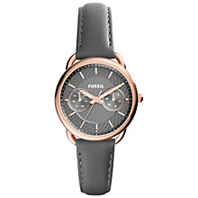 Buy Fossil Women's Tailor Single Chronograph Leather Strap Watch Online at johnlewis.com
