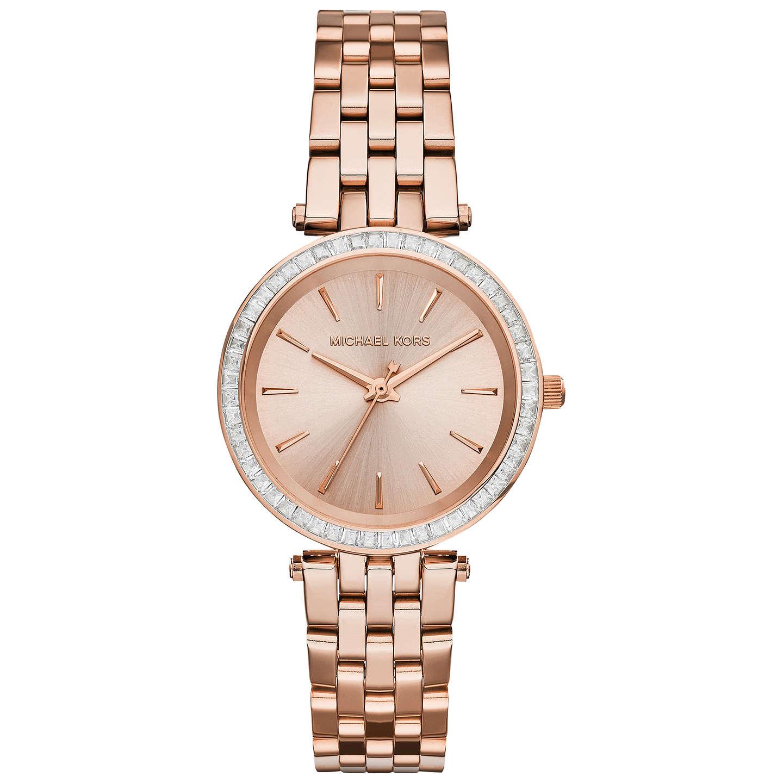 Michael Kors Mk3366 Women S Mini Darci Bracelet Strap Watch Rose Gold Online At Johnlewis