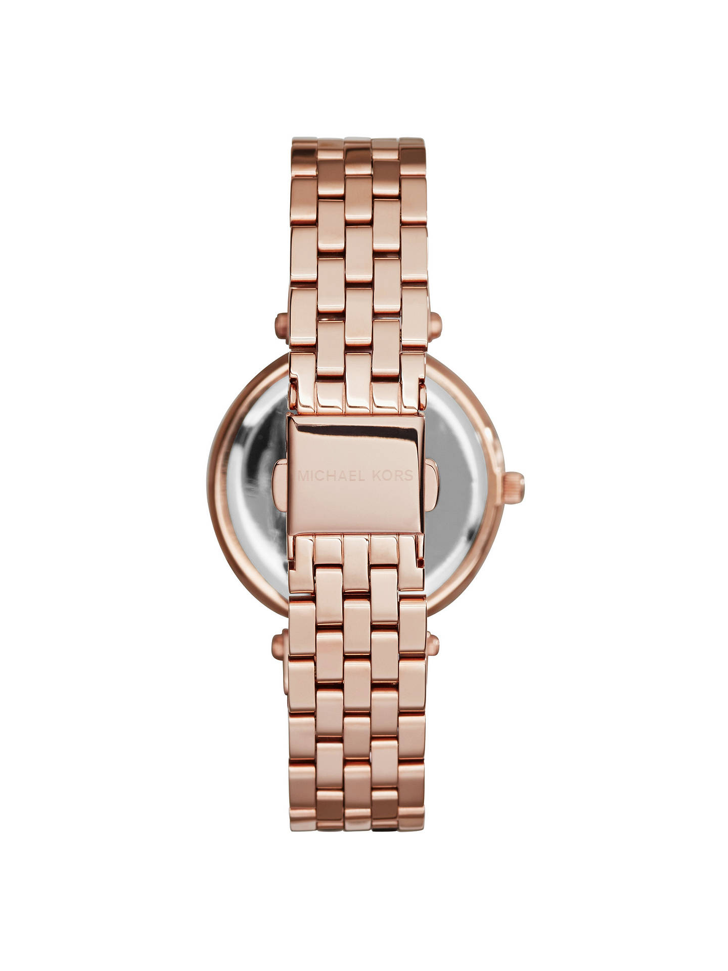 BuyMichael Kors MK3366 Women's Mini Darci Bracelet Strap Watch, Rose Gold Online at johnlewis.com