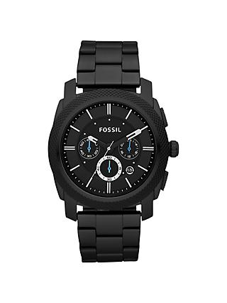 Fossil FS4931 Men's Machine Chronograph Bracelet Strap Watch, Black
