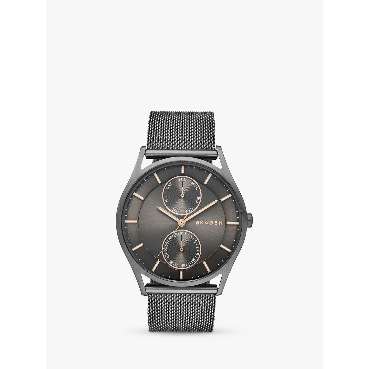 analog marbleized metal mesh watch watches