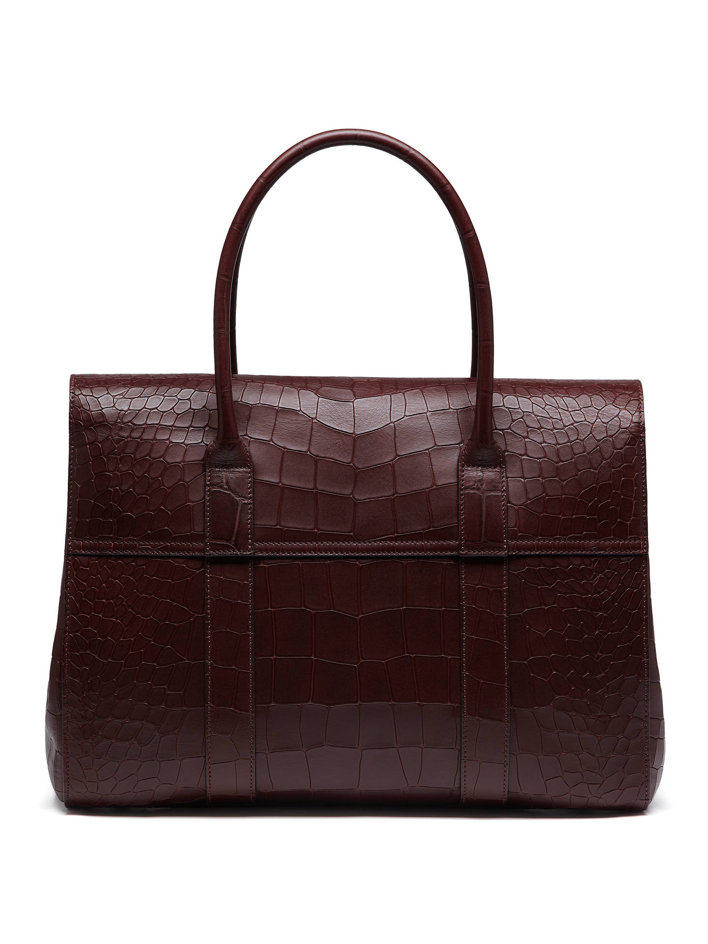 d4884e7100 ... discount buymulberry bayswater croc print leather tote oxblood online  at johnlewis bc45a 4c4ac