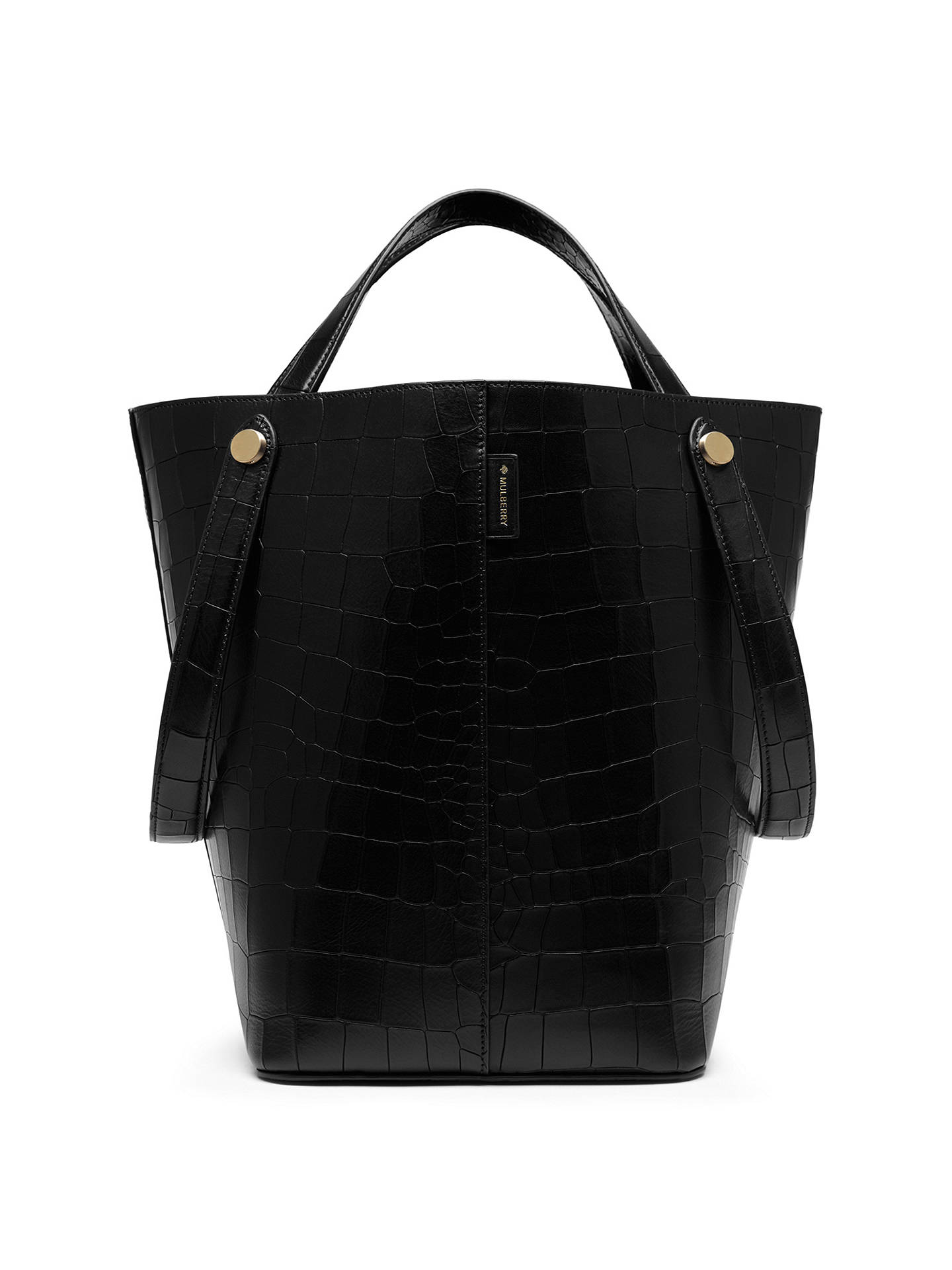 best price mulberry bayswater small leather tote bag b0856 6f453  authentic  buymulberry kite embossed tote bag black croc online at johnlewis 114f6  d8db1 dd872b4a7c314