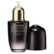 Buy Shiseido Future Solution LX Replenishing Treatment Oil, 75ml Online at johnlewis.com