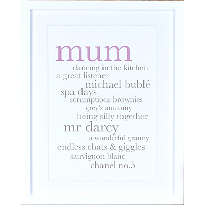 Megan Claire – Personalised Mum Definition Framed Print, 35.5 x 27.5cm