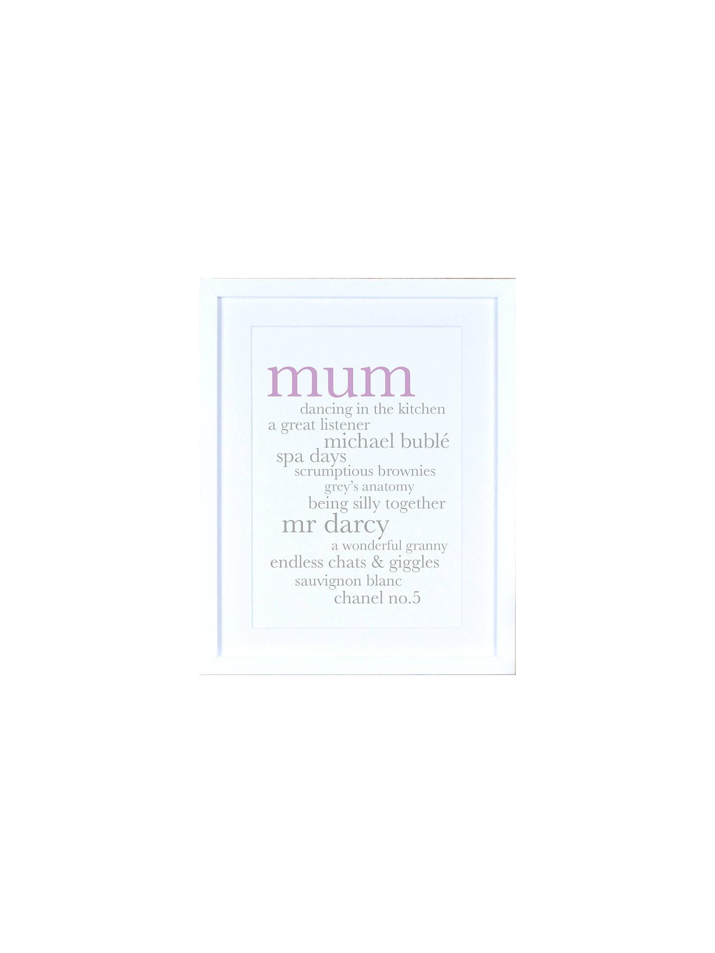Personalised Definition Of Mum Print: Personalised Mum Definition Framed Print