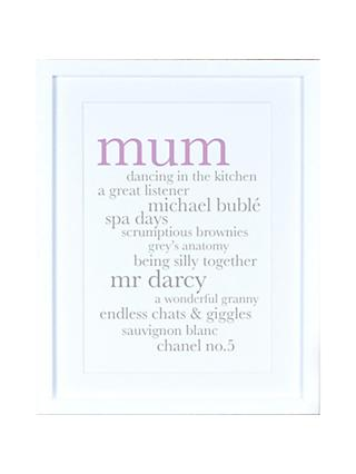 Megan Claire - Personalised Mum Definition Framed Print, 35.5 x 27.5cm