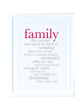 Megan Claire - Personlised Family Definition Framed Print, 35.5 x 27.5cm