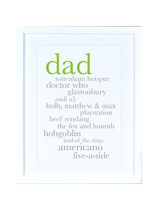 Megan Claire Personalised Dad Definition Framed Print, 35.5 x 27.5cm