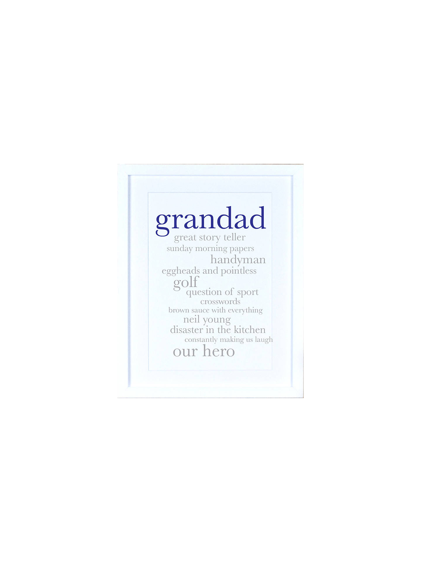 BuyMegan Claire - Personalised Grandad Definition Framed Print, 35.5 x 27.5cm Online at johnlewis.com