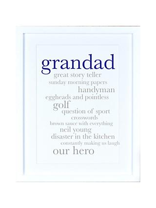 Megan Claire - Personalised Grandad Definition Framed Print, 35.5 x 27.5cm