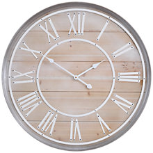 Buy Libra Hemsby Oversized Wall Clock, Natural, Dia. 80cm Online at johnlewis.com