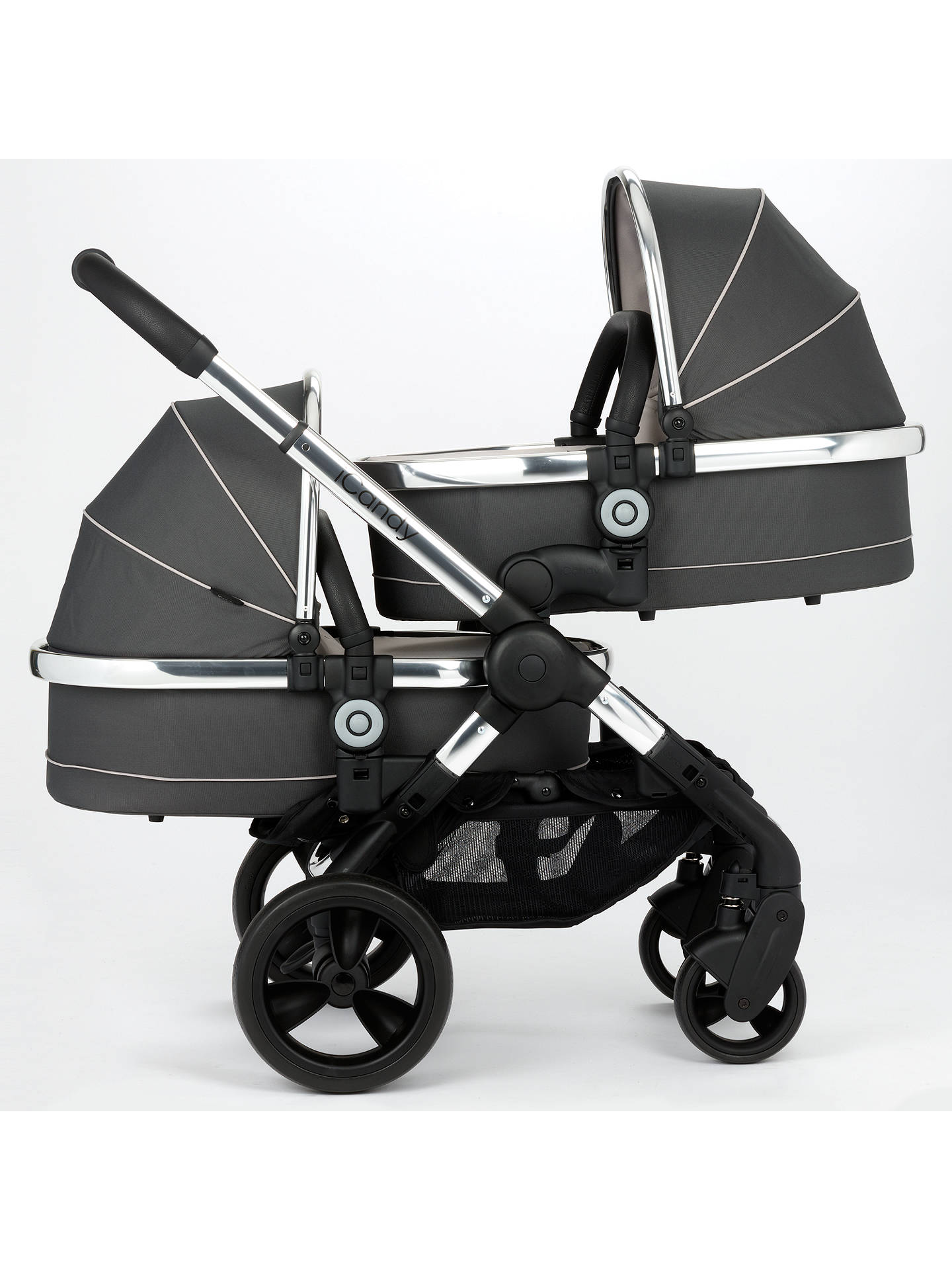 Icandy Peach Blossom Twin Pushchair Truffle 2 At John Lewis Partners