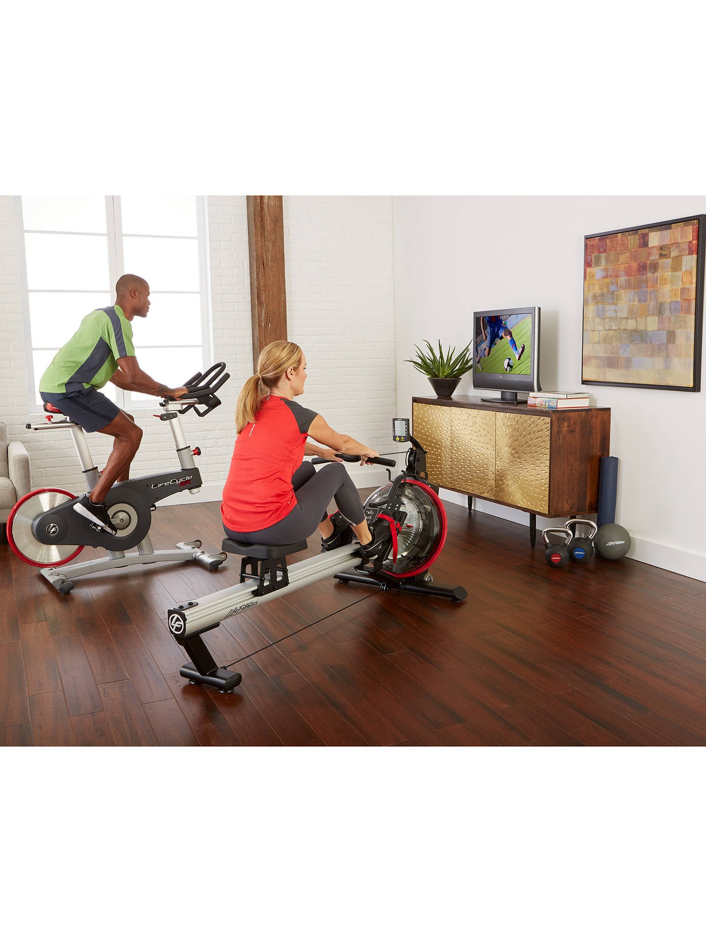 BuyLife Fitness Row GX Trainer, Silver/Black/Red Online at johnlewis.com