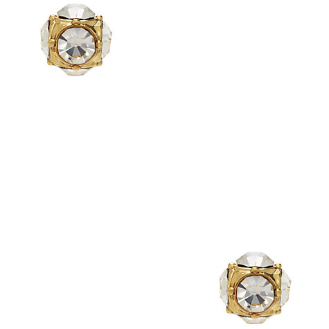 Buy kate spade new york Glass Stone and Faux Pearl Reversible Stud Earrings, Gold/White Online at johnlewis.com