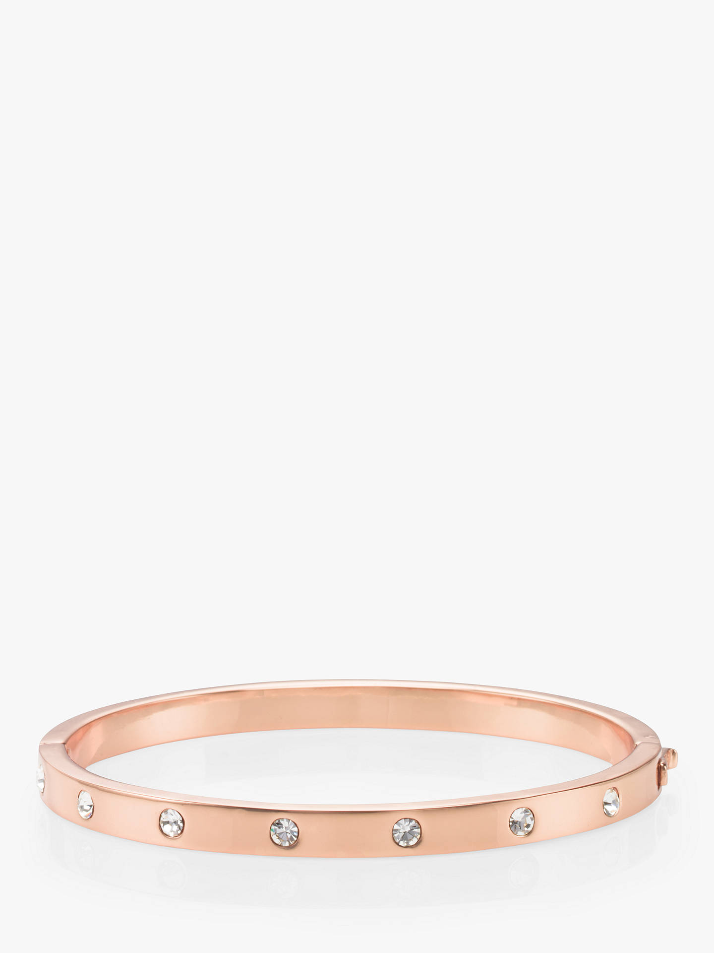 Buy kate spade new york Glass Stone Hinged Bangle, Rose Gold Online at johnlewis.com