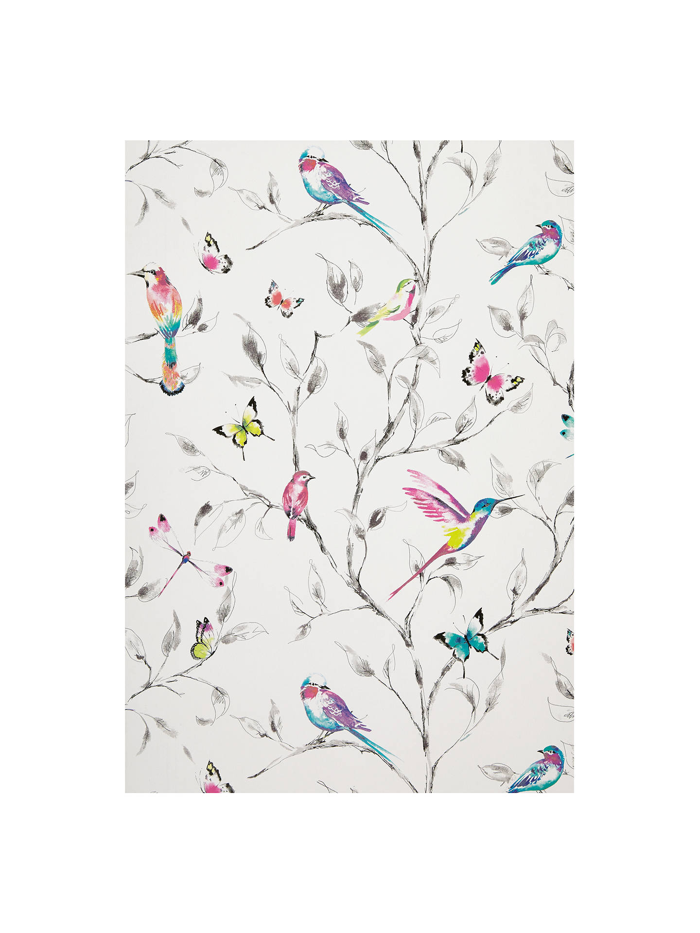 Buy john lewis partners hummingbird trees wallpaper multi online at johnlewis