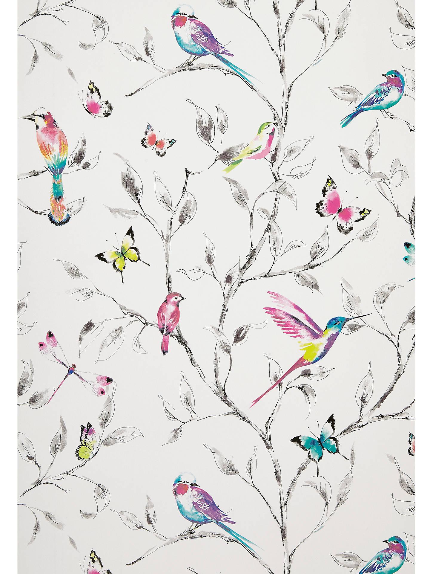 John Lewis Partners Hummingbird Trees Wallpaper Multi At John