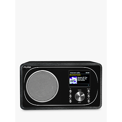 Pure Evoke F3 DAB+/FM Radio With Bluetooth, Wi-Fi, Spotify Connect & Colour LCD Screen, Black
