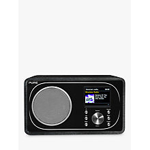 Buy Pure Evoke F3 DAB+/FM Radio With Bluetooth, Wi-Fi, Spotify Connect & Colour LCD Screen, Black Online at johnlewis.com