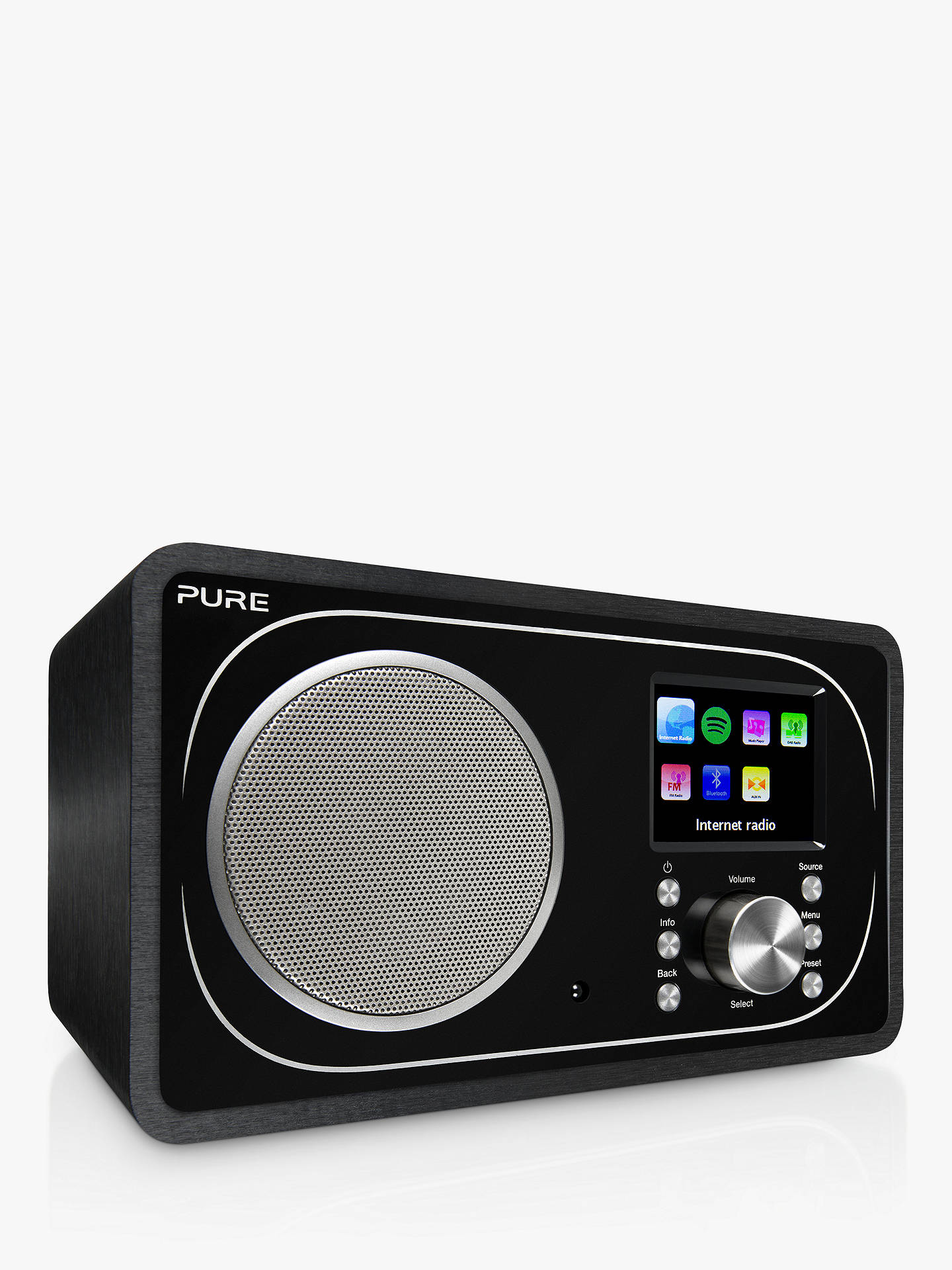 Buy Pure Evoke F3 DAB+/FM Radio With Bluetooth, Wi-Fi & Colour LCD Screen, Black Online at johnlewis.com
