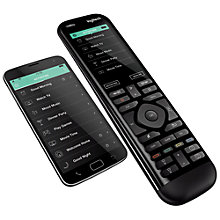 "Buy Logitech Smart Home Harmony Elite Pack, Hub & 950 Remote With 2.4"" Colour Touchscreen Online at johnlewis.com"